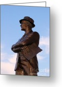 Statues Greeting Cards - Tom Landry Greeting Card by Amanda Starr