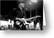 Rage Greeting Cards - Tom Morello BW Greeting Card by Christopher  Chouinard
