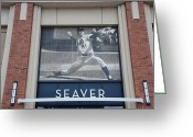 New York Baseball Parks Greeting Cards - Tom Seaver 41 Greeting Card by Rob Hans