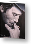 Tom Greeting Cards - Tom Waits Two Greeting Card by Eric Dee