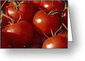 Image Type Photo Greeting Cards - Tomatoes For Sale At A Market In Nice Greeting Card by David Evans