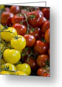 Reds Greeting Cards - Tomatoes on the Vine Greeting Card by Heather Applegate