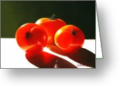 Tasty Pastels Greeting Cards - Tomayta Tomato Greeting Card by Colleen Brown