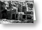 Ancient Tomb Greeting Cards - Tomb of the Kings Greeting Card by John Rizzuto