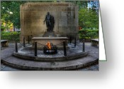 Independence Park Greeting Cards - Tomb of the Unknown Revolutionary War Soldier II - George Washington  Greeting Card by Lee Dos Santos