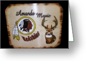Gift Pyrography Greeting Cards - Tomboy Greeting Card by Kenneth Lambert
