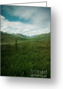 Far Greeting Cards - Tombstone Mountain Greeting Card by Priska Wettstein