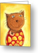 Childsroom Greeting Cards - Tomcat Greeting Card by Sonja Mengkowski
