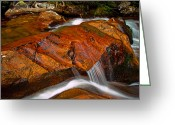 Brian Kerls Greeting Cards - Tonahutu Creek Cascade Greeting Card by Brian Kerls