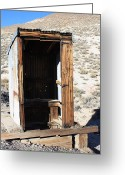Old Out Houses Greeting Cards - Tonapaugh Outhouse Greeting Card by Lydia Warner Miller