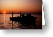 Scenic Byways Greeting Cards - Tongers Sunrise Greeting Card by Skip Willits