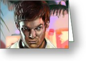 Dexter Greeting Cards - Tonights The Night Greeting Card by Vinny John