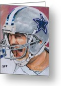 Dallas Cowboys Painting Greeting Cards - Tony Tony Greeting Card by Steve Teets