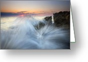 Explosion Photo Greeting Cards - Too Close for Comfort Greeting Card by Mike  Dawson