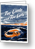 Second Greeting Cards - Too Little and Too Late Greeting Card by War Is Hell Store