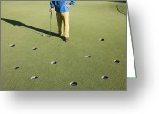 Golf Green Greeting Cards - Too Many Choices Greeting Card by Jetta Productions