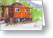 Open Road Painting Greeting Cards - Toot Toot Greeting Card by Kip DeVore