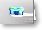 Toothbrush Greeting Cards - Toothpaste On Toothbrush Greeting Card by Photo Researchers, Inc.