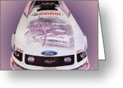 Funny Car Greeting Cards - Top Funny Girl Greeting Card by Jim Carrell