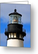 Surf Fishing Photo Greeting Cards - Top of Lighthouse Greeting Card by Athena Mckinzie