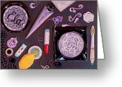 Room Jewelry Greeting Cards - Top of My Vanity Greeting Card by Jenny Elaine