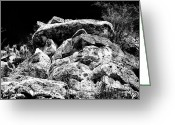 Cliff Dwellers Greeting Cards - Top of the Cliff Greeting Card by John Rizzuto