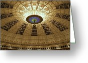 West Baden Greeting Cards - Top of the Dome Greeting Card by Sandy Keeton