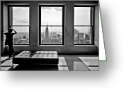 Manhattan Greeting Cards - Top of the Rock Greeting Card by Thomas Splietker