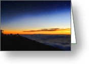 Observatories Greeting Cards - Top Of The World Greeting Card by Peter Chilelli