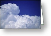 Cumulus Cloud Greeting Cards - Tops Of Cumulus Clouds Greeting Card by Kaj R. Svensson