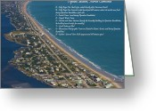 Topsail Greeting Cards - Topsail Beach Greeting Card by East Coast Barrier Islands Betsy A Cutler