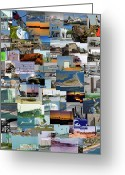 Topsail Greeting Cards - Topsail Island NC Collage  Greeting Card by East Coast Barrier Islands Betsy A Cutler