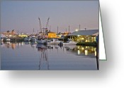 Topsail Greeting Cards - Topsail Island NC Sound Greeting Card by East Coast Barrier Islands Betsy A Cutler