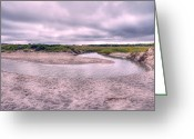 Tidal River Greeting Cards - Topsail Serenity  Greeting Card by East Coast Barrier Islands Betsy A Cutler
