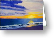 Topsail Island Pastels Greeting Cards - Topsail Sunrise II Greeting Card by Cathy Harville