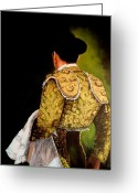 Torero Greeting Cards - Torero en Verdi Greeting Card by Marlyn Anderson