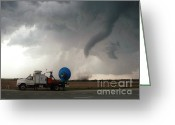 "\\\""storm Chasers\\\\\\\"" Greeting Cards - Tornado, Doppler On Wheels, Dow7 Greeting Card by Science Source"