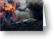 Paveway Greeting Cards - Tornado GR4 Attack Greeting Card by Ken Brannen