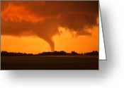 "\\\""storm Chasers\\\\\\\"" Greeting Cards - Tornado Sunset Greeting Card by Jason Politte"