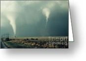 Featured Greeting Cards - Tornadoes Greeting Card by Science Source