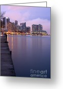 Harborfront Greeting Cards - Toronto at sunset Greeting Card by Igor Kislev