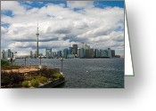Harborfront Greeting Cards - Toronto Cityscape Greeting Card by Jim Finch