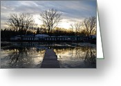 Batman Greeting Cards - Toronto Island Reflection Greeting Card by Snow White