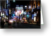 Life In The City Greeting Cards - Toronto lights up Greeting Card by Alfred Ng