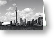 Harbourfront Greeting Cards - Toronto Skyline 11 Greeting Card by Andrew Fare