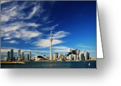 Day Photo Greeting Cards - Toronto skyline Greeting Card by Andriy Zolotoiy