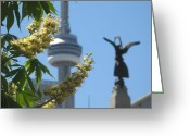 Life In The City Greeting Cards - Toronto spring Greeting Card by Alfred Ng