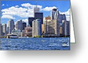 Highrises Greeting Cards - Toronto waterfront Greeting Card by Elena Elisseeva