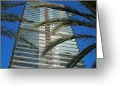 Blau Greeting Cards - Torre Mapfre - Barcelona Greeting Card by Juergen Weiss