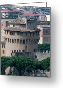 Vatican City Greeting Cards - TORRE SAN GIOVANNI st johns tower on the ramparts of the walls of the vatican city rome Greeting Card by Andy Smy
